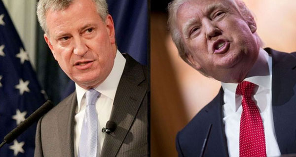 Bill-de-Blasio-and-Donald-Trump