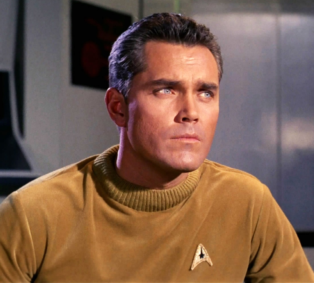 "Jeffrey Hunter as Captain Christopher Pike in ""The Cage"""